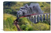 The Jacobite train, Canvas Print
