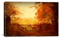 The Five Barred Gate, Canvas Print