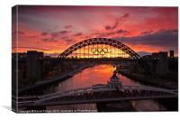 Tyne Bridge at Sunrise II, Canvas Print