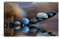 Reflected Stones, Canvas Print