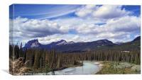 Bow River Canada, Canvas Print
