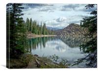 Moraine Lake Canadian Rockies, Canvas Print