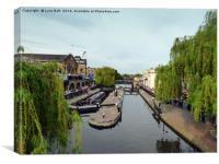 Camden Lock London, Canvas Print