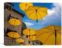 Umbrellas, Canvas Print