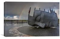 Cardiff war memorial, Canvas Print