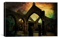 Night in the Ruins., Canvas Print