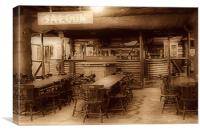 The Saloon Bar., Canvas Print