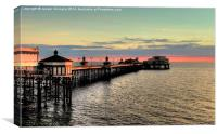 North Pier at Sunset, Canvas Print