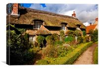 A Country Cottage, Canvas Print