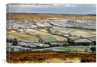 The View Across Rosedale, Canvas Print