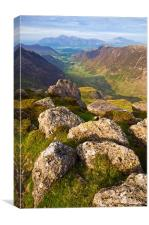 The Newlands Valley, Cumbria, Canvas Print