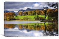 Reflections At Loughrigg Tarn, Canvas Print