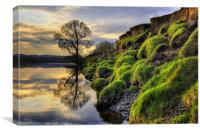 Along The Banks Of The River Lune, Canvas Print