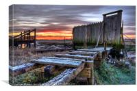 Sunrise At Skippool Creek, Canvas Print