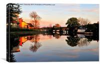 Lancaster Canal Sunset, Canvas Print