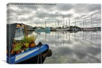 Glasson Dock Reflections, Canvas Print