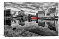 Canning Dock, Liverpool, Canvas Print