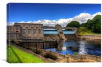 Pitlochry Dam and Fish Ladder, Canvas Print
