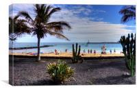 Las Cucharas Beach, Canvas Print