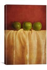 trois pommes, Canvas Print