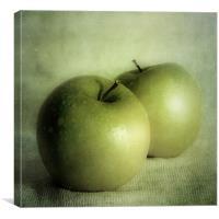 apple painting, Canvas Print