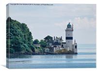 Cloch Point Lighthouse., Canvas Print