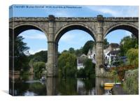 Knaresborough Viaduct. , Canvas Print