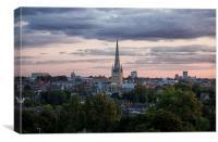 Norwich City Skyline, Canvas Print