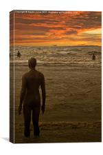 Another Place by Anthony Gormley., Canvas Print
