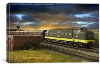 Ex Works Deltic on Test, Canvas Print