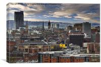 Sheffield Steel City Skyline, Canvas Print