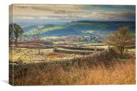 Over Curbar to Chatsworth, Canvas Print
