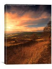 Curbar Edge Sunset, Canvas Print
