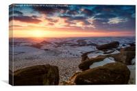Sunset over Higger Tor, Canvas Print