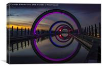 Stargate at the Falkirk Wheel, Canvas Print