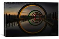 Orange at The Falkirk Wheel, Canvas Print