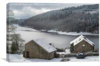 Winter over Ladybower Reservoir, Canvas Print