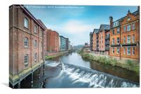 The River Don at Lady's Bridge, Sheffield, Canvas Print