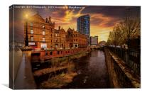 Sheffield Steel City Sunset, Canvas Print