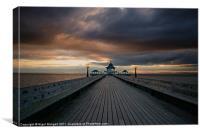 Clevedon Pier at Sunset, Canvas Print