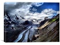 The Pasterze Glacier., Canvas Print