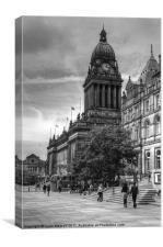 Leeds Town Hall B&W, Canvas Print