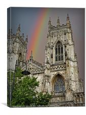 Rainbow over York Minster, Canvas Print
