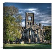 Kirkstall Abbey, Canvas Print