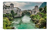 "Stari Most ""Old Bridge"" Mostar, Canvas Print"