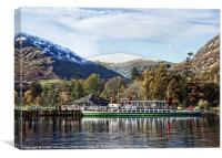 The Western Belle on Ullswater, Canvas Print