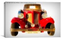 Beauford Classic Car, Canvas Print