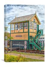 Sheringham East Signal Box. , Canvas Print