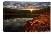 Sun Set Waters, Canvas Print
