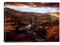 Packhorse Bridge, Canvas Print